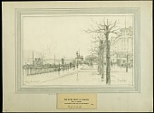 view The River Front at Coblenz digital asset: Sketch by J. Andre Smith, The River Front at Coblenz