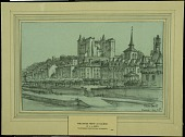 view The River Front at Saumur digital asset: Sketch by J. Andre Smith, The River Front at Saumur