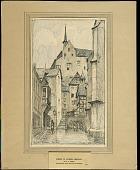 view Street in Cochem, Germany digital asset: Sketch by J. Andre Smith, Street in Cochem, Germany
