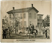 view Mr. Lincoln. Residence and Horse by Louis Kurz and Charles Shober digital asset: Mr. Lincoln, Residence and Horse