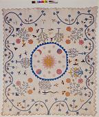 """view 1850 - 1900 Sylvia S. Queen's """"Garden of Eden"""" Quilt digital asset: Sylvia S. Queen's 'Garden of Eden' Quilt"""