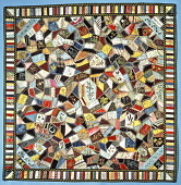 "view 1875 - 1900 ""Crazy Patchwork"" Parlor Throw digital asset number 1"