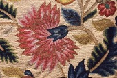 view Wool embroidered cushion top or fire screen, ca. 1740 digital asset number 1