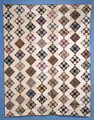 "view 1840 - 1860 ""Rail Fence"" Pieced Bedcover digital asset number 1"