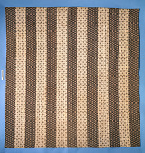 view 1825 - 1840 Striped Pieced Quilt digital asset number 1