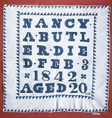 "view 1842 Nancy Ward Butler's ""Tombstone"" Quilt digital asset number 1"