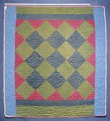 view 1890 - 1910 Swarey Family's Amish Quilt digital asset: Overall