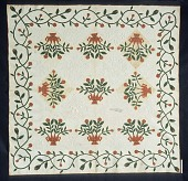 view 1850 - 1854 Mary C. Pickering's Applique Quilt digital asset number 1