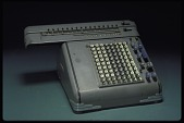 view Friden Model D 8 Calculating Machine digital asset: Friden Model D 8 Calculating Machine, Front Angle View