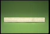 view Engineering Instruments 250-V Simplex Slide Rule digital asset: Engineering Instruments Slide Rule, Model 250-V, Front View
