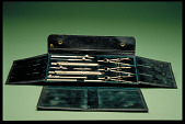 view E. O. Richter & Co. Wallet Case of Drawing Instruments digital asset: Wallet Case of Drawing Instruments by E. O. Richter