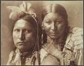 view Platinum Portrait of American Horse and wife, Sioux Indians, by Gertrude Kasebier digital asset: Platinum portrait of American Horse and wife by Gertrude Kasebier