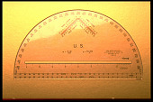 view Felsenthal FAE-18 Artillery Protractor digital asset: Felsenthal FAE-18 semicircular protractor