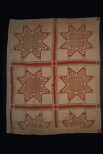 "view 1850 - 1875 Long Plantation ""Feathered Star"" Pieced Quilt digital asset number 1"
