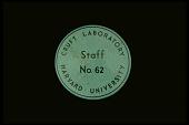 view Badge from Cruft Laboratory of Harvard University digital asset: Badge from Cruft Laboratory of Harvard University