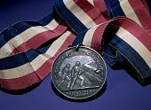 view U.S. Civil War Colored Troops Medal digital asset: Obverse, US Civil War Medal