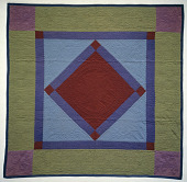 """view 1900 - 1925 Amish """"Hanging Diamond"""" Quilt digital asset: Overall"""