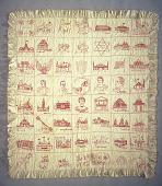 view 1905 Hulda and Ellen Larson's Pan-American Exposition Quilt digital asset: Ellen and Hulda Larson's Embroidered Quilt