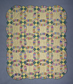 "view 1930 ""Double Wedding Ring"" Quilt digital asset number 1"