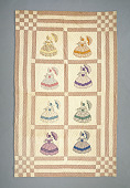 view 1940 - 1947 Wilhelmina Dollinger Endlich's Child's Quilt digital asset number 1