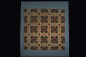 "view 1906 Sarah Butler's ""Log Cabin"" Pieced Quilt digital asset number 1"