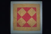 "view 1860 - 1870 Polly Fetherolf's ""Log Cabin"" Child's Quilt digital asset: Overall"