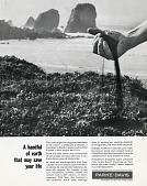 view A handful of earth that may save your life. [b & w advertisement] digital asset: A handful of earth that may save your life. [b & w advertisement].