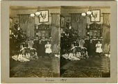 view [George and Nina Baekeland on Christmas] [stereograph] digital asset: [George and Nina Baekeland on Christmas] [stereograph]