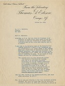 view [Thomas Edison to Leo Baekeland: typescript letter.] digital asset: [Thomas Edison to Leo Baekeland: typescript letter.]