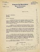 view [Letter from US Congressman Frank Reid to Leo Baekeland] digital asset: [Letter from US Congressman Frank Reid to Leo Baekeland]