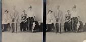 view Nina, L.H., George and Celine Baekeland [stereograph, photographic print] digital asset: Nina, L.H., George and Celine Baekeland [stereograph, photographic print].