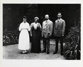 view [Baekeland family standing in garden : photoprint] digital asset: [Baekeland family standing in garden : photoprint, ca. 1910.]