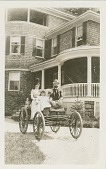 view [Baekeland family in electric automobile : paper photoprint] digital asset: Leo H. Baekeland Papers: 1999