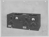 view [Three photographs of a type RG radio receiver; front, interior, and coil set] digital asset: [Three photographs of a type RG radio receiver; front, interior, and coil set]