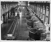 view [Interior view of the first big electricity generating station at Niagara Falls] digital asset: [Interior view of the first big electricity generating station at Niagara Falls].