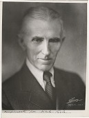 view [Nikola Tesla : black-and-white photoprint.] digital asset: [Nikola Tesla : black-and-white photoprint.]