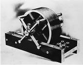 view [Tesla's model induction motor : black-and-white photoprint.] digital asset: [Tesla's model induction motor : black-and-white photoprint.]
