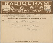 view [Radiogram from S.S. Trimountain to Yokohama, Japan] digital asset: [Radiogram from S.S. Trimountain to Yokohama, Japan].