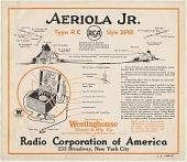 view [Aeriola Jr. radio receiver, advertisement] digital asset: [Aeriola Jr. radio receiver, advertisement]
