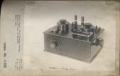 view Valve tuner. With Fleming valves / Marconi W T Co. of America / About 1912 [typed on mount] [lack and white photoprint] digital asset: Valve tuner. With Fleming valves / Marconi W T Co. of America / About 1912 [typed on mount] [lack and white photoprint]