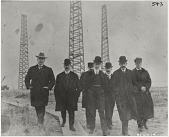 view [Guglielmo Marconi and six other men at Wellfleet radio station, black-and-white photoprint.] digital asset: [Guglielmo Marconi and six other men at Wellfleet radio station, black-and-white photoprint.]
