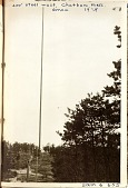 view [400 foot steel antenna mast for the Marconi Wireless Telegraph Company of American station, Chatham, Massachusetts, black-and-white photoprint.] digital asset: [400 foot steel antenna mast for the Marconi Wireless Telegraph Company of American station, Chatham, Massachusetts, black-and-white photoprint.]