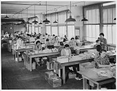 view Bow-Tying Department at Rust Craft [photoprint] digital asset: Bow-Tying Department at Rust Craft [photoprint].