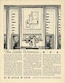 view The Little Woman, GPA [black & white advertisement; tear sheet] digital asset: The Little Woman, GPA [black & white advertisement; tear sheet].