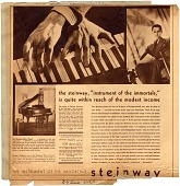 """view The steinway, """"instrument of the immortals,"""" is quite within reach of the modest income [black & white advertisement; tear sheet] digital asset: The steinway, """"instrument of the immortals,"""" is quite within reach of the modest income [black & white advertisement; tear sheet]."""