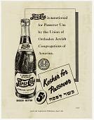 view Kosher for Passover [black & white advertisement; tear sheet] digital asset: Kosher for Passover [black & white advertisement; tear sheet].