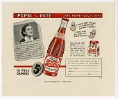 "view ""Pepsi and Pete"" ... the Pepsi-Cola Cops [color advertisement; tear sheet] digital asset: ""Pepsi and Pete"" ... the Pepsi-Cola Cops [color advertisement; tear sheet]."