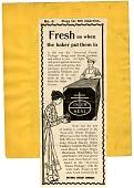 view Fresh as when the baker put them in ... [black & white advertisement; tear sheet] digital asset: Fresh as when the baker put them in ... [black & white advertisement; tear sheet].