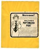 view Nervous? [black & white advertisement; tear sheet] digital asset: Nervous? [black & white advertisement; tear sheet].