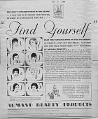 view Find Yourself [black & white advertisement; tear sheet] digital asset: Find Yourself [black & white advertisement; tear sheet].